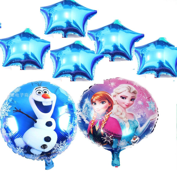 7pcs/lot Aluminum Foil Balloons Frozen Party Decoration