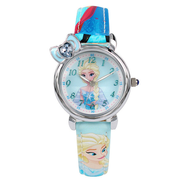 Girls wristwatches Frozen leather relogio clocks