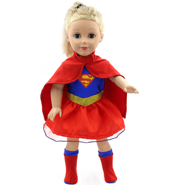 American Girl Doll Clothes Superman and Spider-Man Costume for 18 inch Dolls