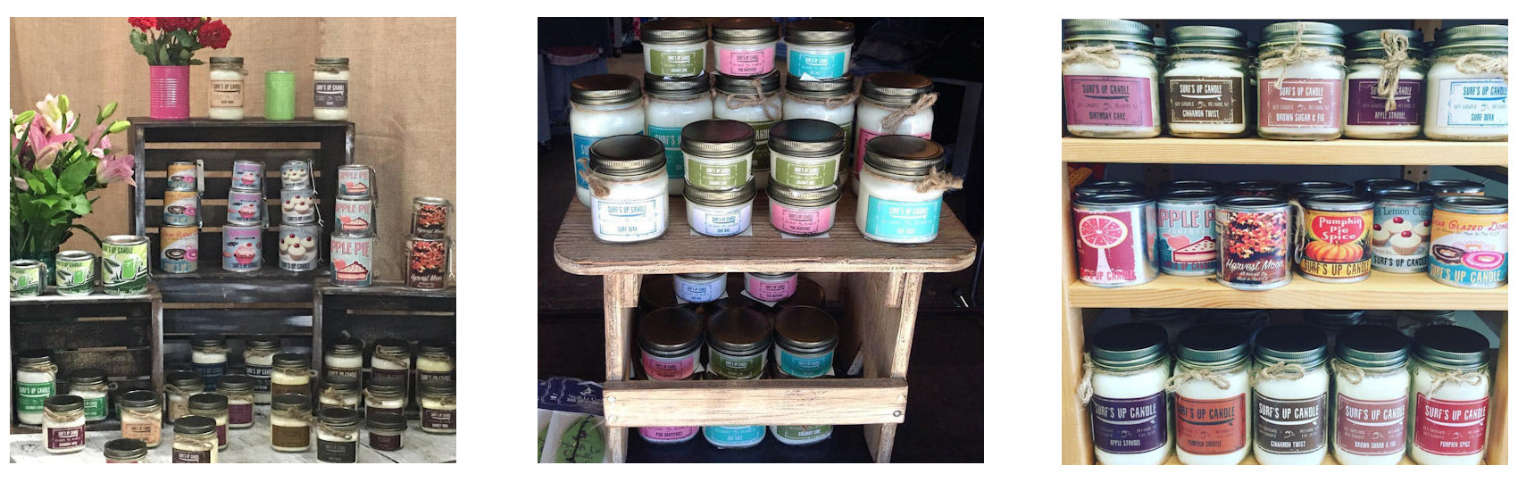Hand-Poured All-Natural Scented Soy Paint Can Candles & Mason Jar Candles by Surf's Up Candle, Belmar, NJ