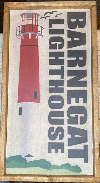 Barnegat Lighthouse Vintage Sign