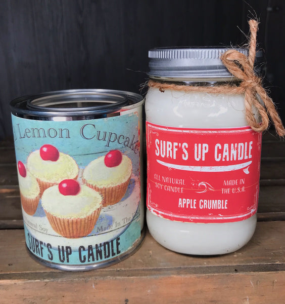 Apple Crumble Jar and Iced Lemon Biscotti Paint Can Set