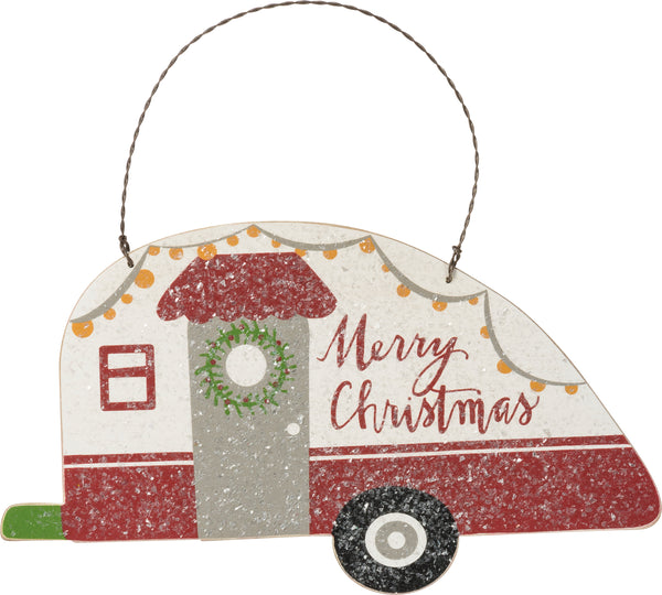 Hanging Decor - Camper - Merry Christmas