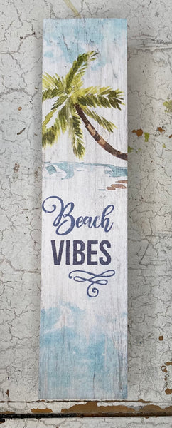 Beach Vibes Block Sign