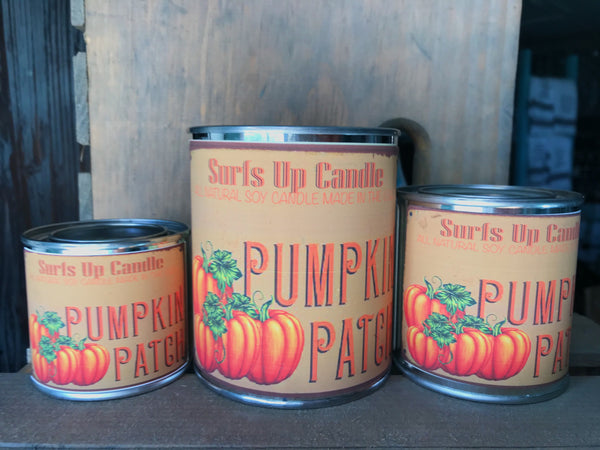Pumpkin Patch Paint Can Candle