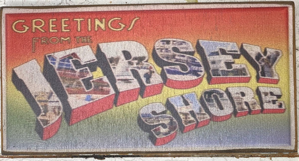 Greetings from the Jersey Shore Vintage Sign - Small