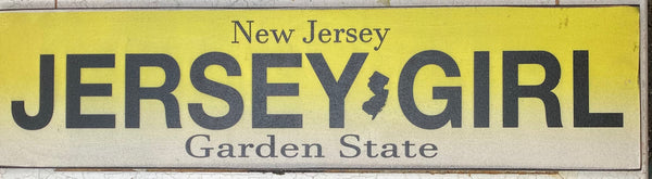 Jersey Girl License Plate Vintage Sign