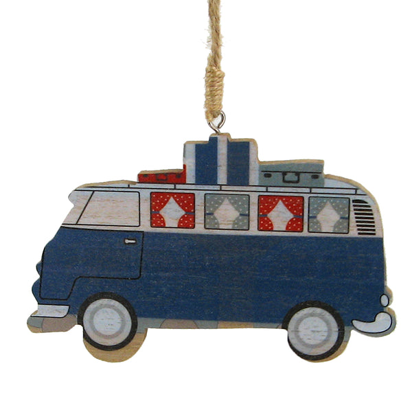 Blue Vacation Van Ornament