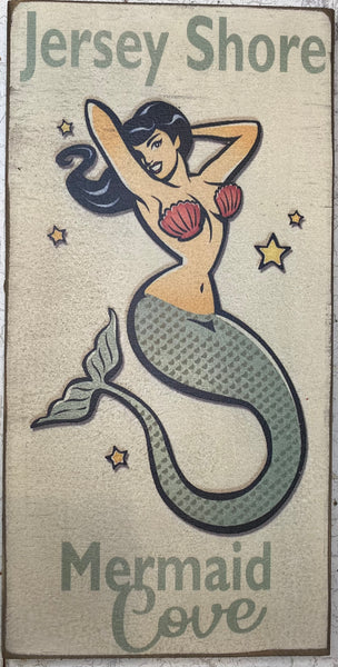 Jersey Shore Mermaid Vintage Sign