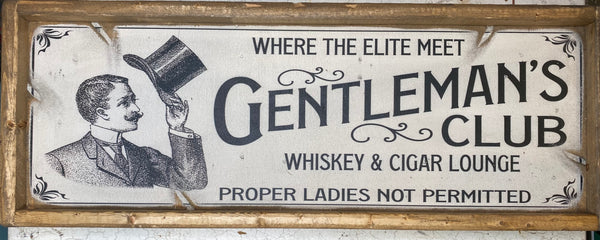 The Gentleman's Club Vintage Sign