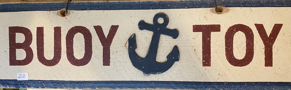 Buoy Toy Sign Blue