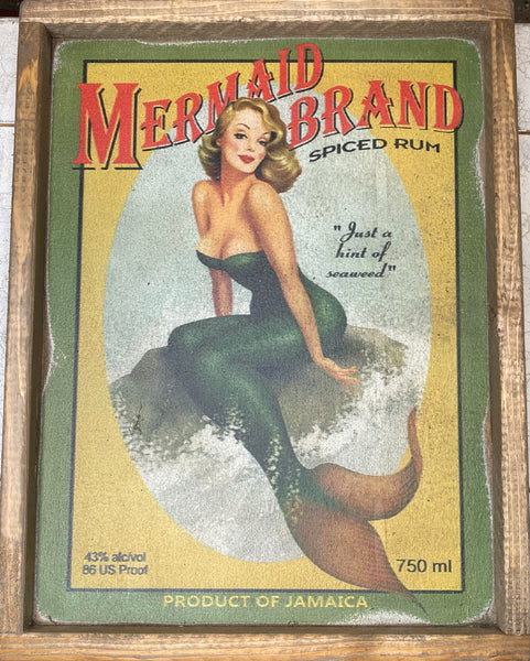 Mermaid Brand Vintage Sign
