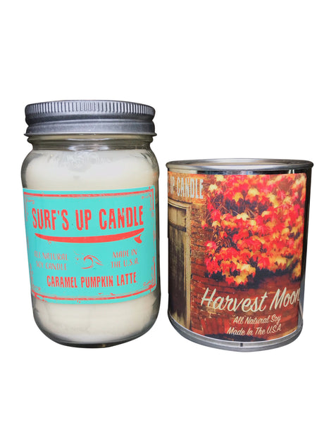 Caramel Pumpkin Latte Jar and Harvest Moon Paint Can Set
