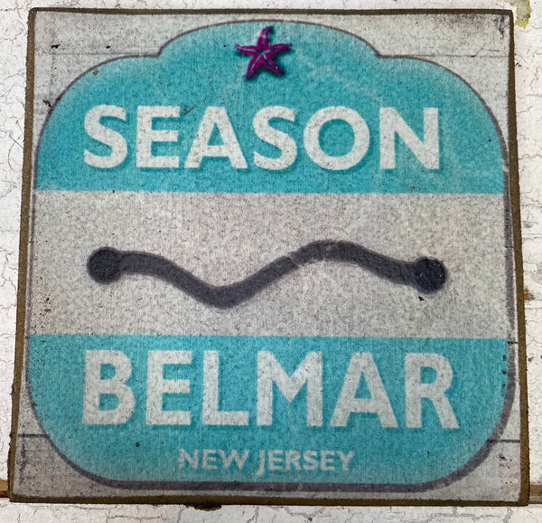 Season Pass-Belmar Vintage Sign