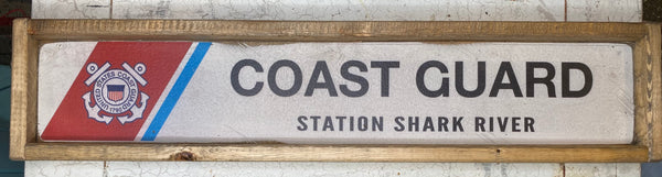 Coast Guard - Shark River Vintage Sign
