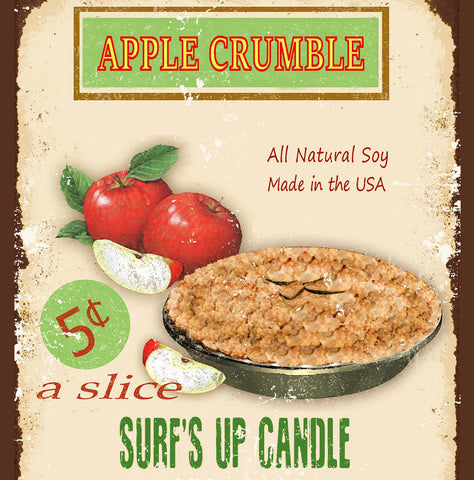 Apple Crumble Paint Can Candle