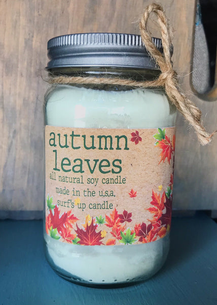 Autumn Leaves - Fall Limited Edition Mason Jar Candle
