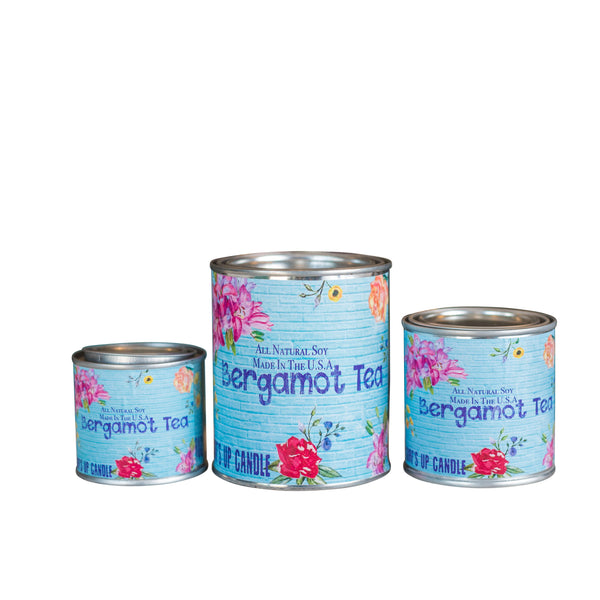Bergamot Tea Paint Can Candle