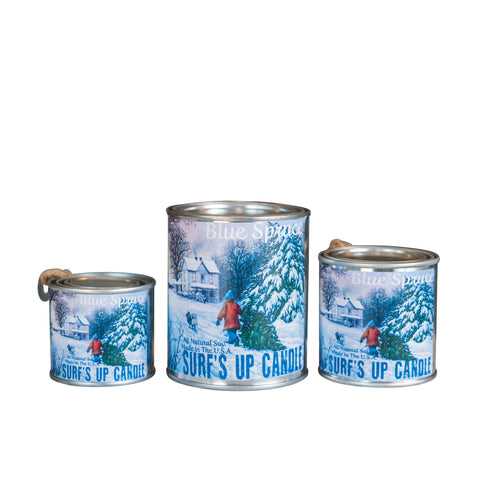 Blue Spruce Paint Can Candle