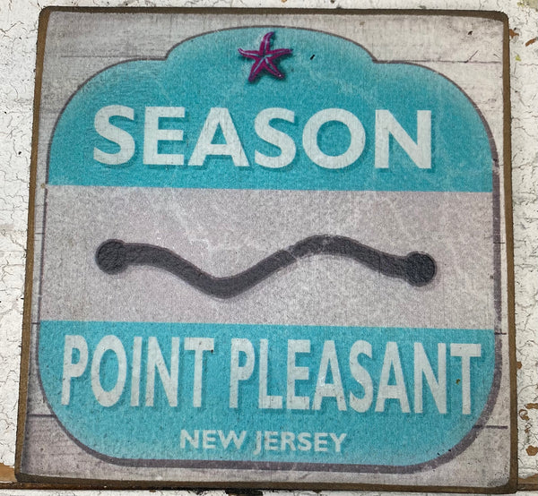 Large Season Pass-Point Pleasant Vintage Sign