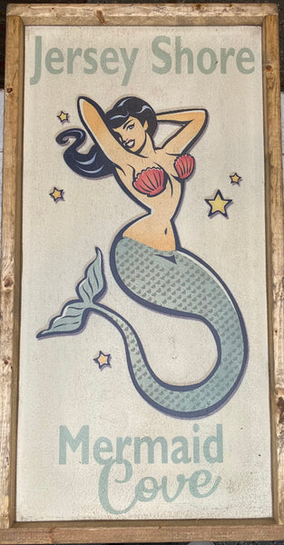Jersey Shore Mermaid Cove Vintage Sign