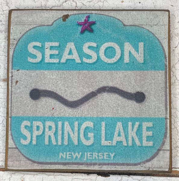 Season Pass-Spring Lake Vintage Sign