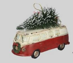 Christmas Bus With Tree Ornament