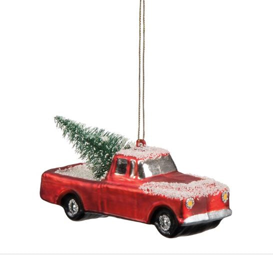 Glass Ornament - Truck