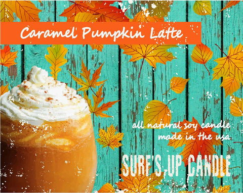 Caramel Pumpkin Latte Paint Can Candle