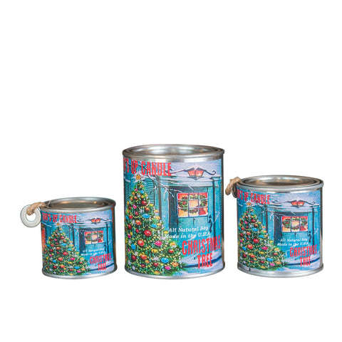 Christmas Tree Paint Can Candle