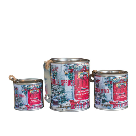 Citrus Spruce Paint Can Candle