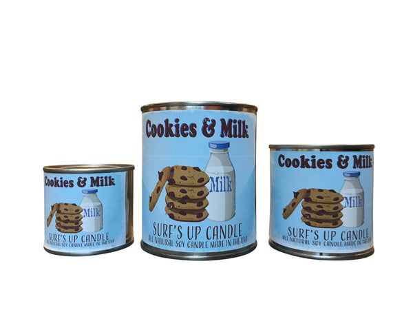 Cookies and Milk Paint Can Candle