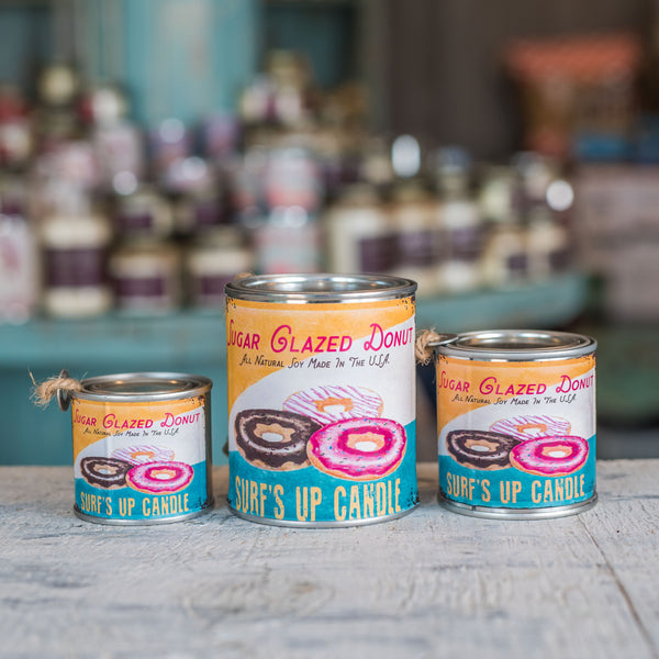 Glazed Donut Soy candle in a tin
