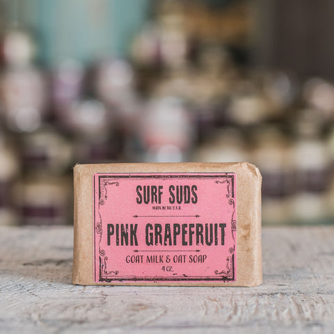 Pink grapefruit goats milk soap