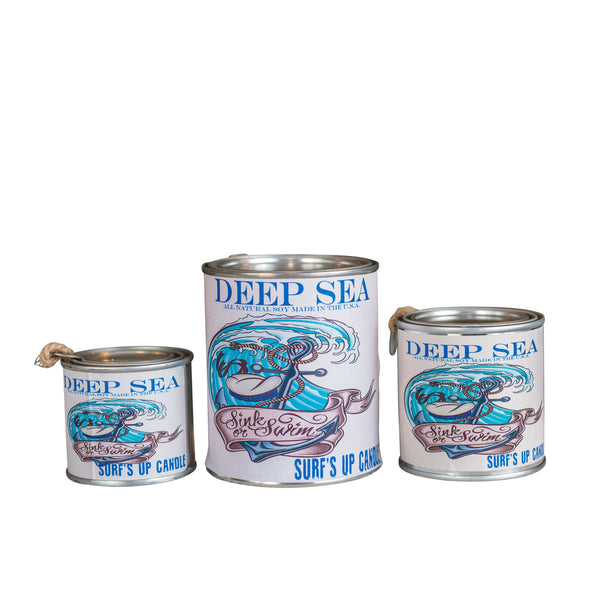 Deep Sea Paint Can Candle