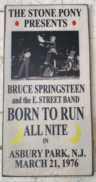 Small Bruce Springsteen - White Vintage Sign