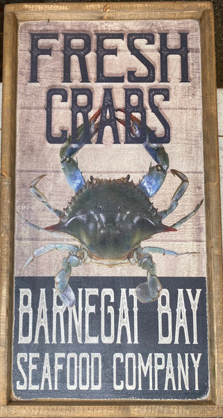 Fresh Crabs Vintage Sign