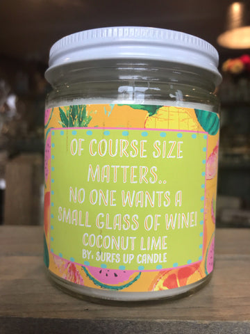 Size Matters Surf Wit Jar Candle- Coconut Lime