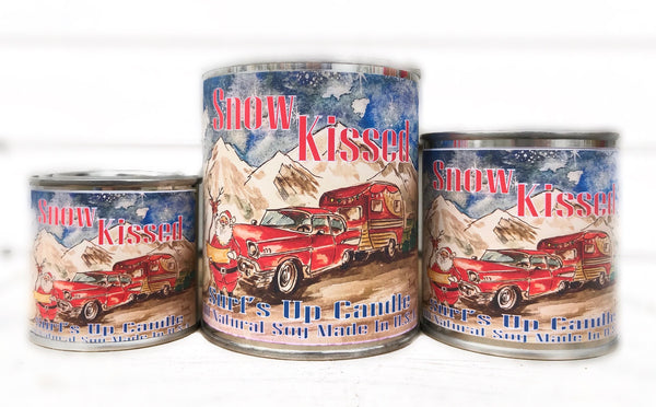 Snow Kissed Paint Can Candle