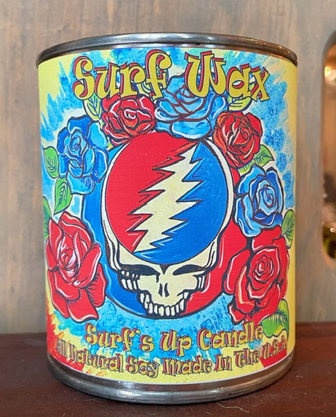 Grateful Dead Inspired Skull - Surf Wax Pint