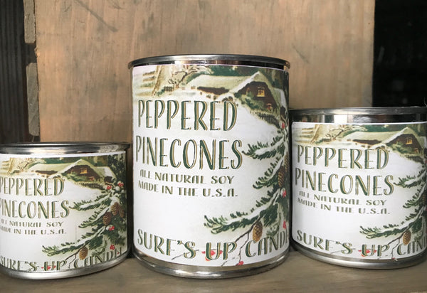 Peppered Pinecones Paint Can Candle