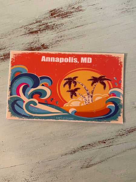 Salt Waves Rectangle Sticker - Annapolis MD
