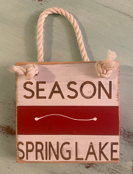 Red Beach Badge - Spring Lake