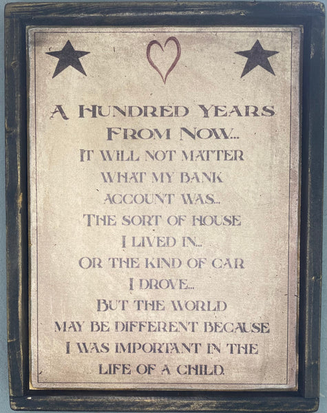 A Hundred Years Sign