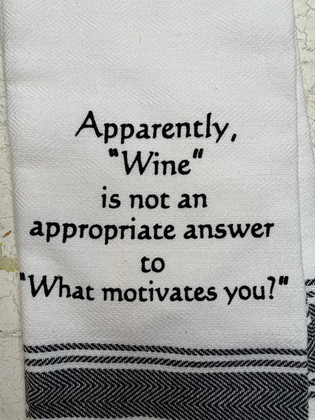 Appropriate Answer Towel