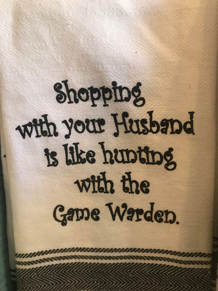 Shopping With Husband Towel
