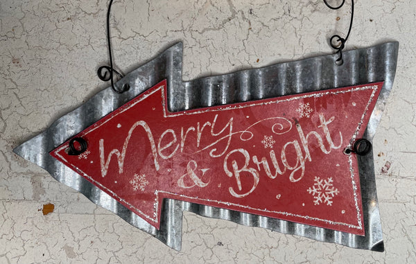 Merry & Bright Arrow Ornament