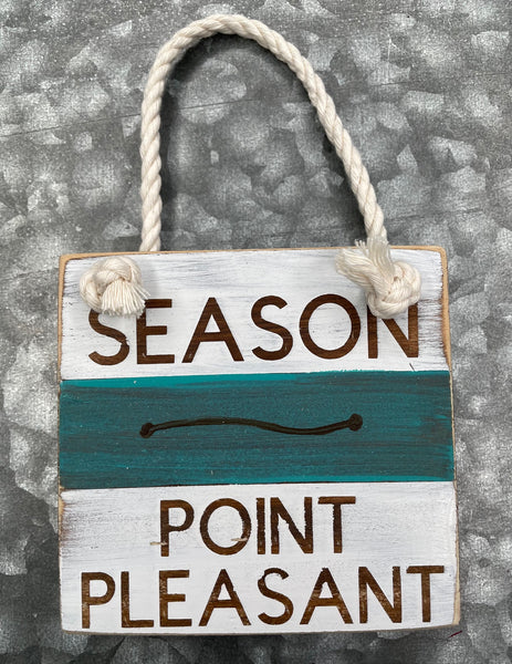 Blue Beach Badge Ornament - Point Pleasant