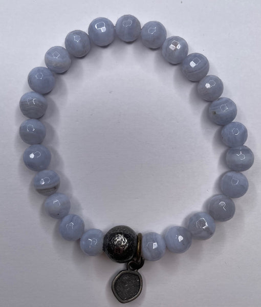 Bead Bracelet - Light Gray