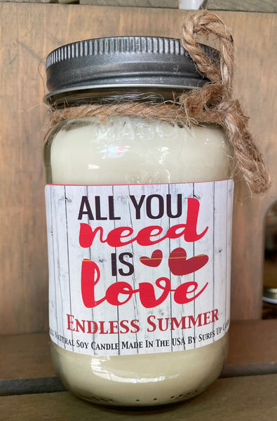 Valentines Day - Quote - Endless Summer Mason Jar